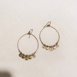 Jewelry - Silver and gold hoops